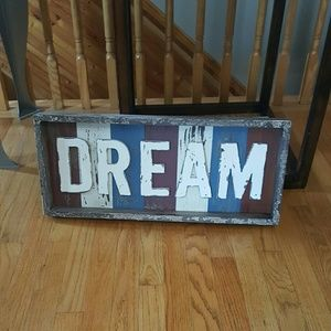NEW Large DREAM rustic sign!